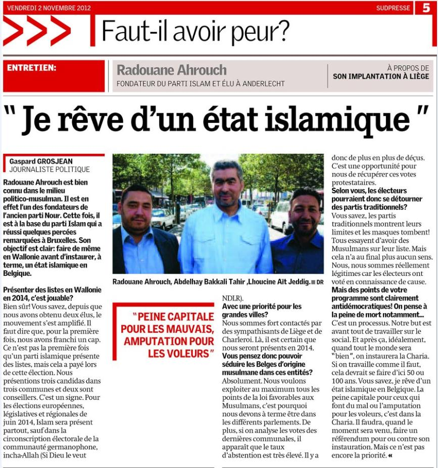 belgium islam party sharia