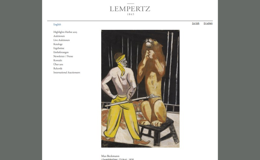 germany gurlitt lion tamer lempertz