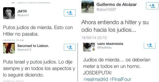 spain antisemitic tweets